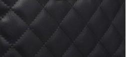 czarny pikowany